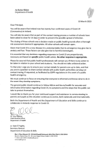 Letter from Chief Medical Officer